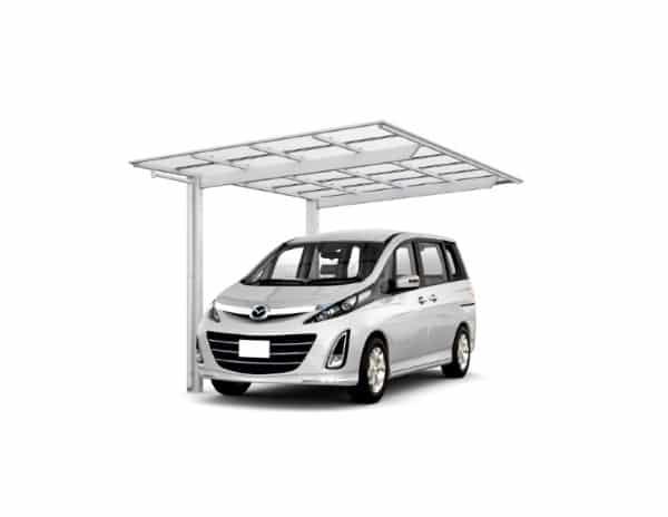 โรงจอดรถสำเร็จรูป แบบเดี่ยว รุ่น NESCA Light 2.4x2.6x5 m. Silver TOSTEM