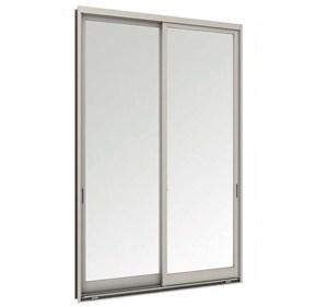 ประตูบานเลื่อนคู่(เลื่อนสลับ) TOSTEM WE-70 กระจกเขียวใส+กุญแจ+มุ้งลวด