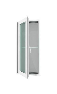 หน้าต่างบานเปิดเดี่ยว(ซ้าย) WINDSOR รุ่น SMART กระจกเขียวใส 5 มม.+มุ้งลวด