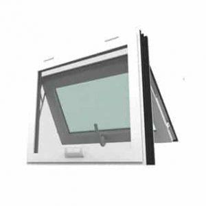 หน้าต่างบานกระทุ้ง WINDSOR รุ่น SMARTกระจกเขียวใส+มุ้งลวด
