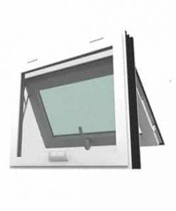 หน้าต่างบานกระทุ้ง WINDSOR รุ่น SMART กระจกเขียวใส 5 มม.