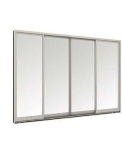 หน้าต่างบานเลื่อน 4 บาน TOSTEM รุ่น WE-70 กระจกเขียวใส 5 มม. พร้อมมุ้งลวด
