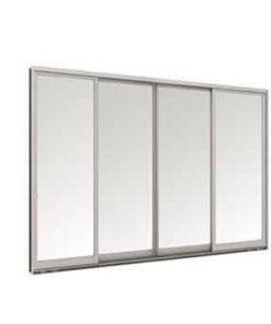 หน้าต่างบานเลื่อน 4 บาน TOSTEM รุ่น WE-40 กระจกเขียวใส 5 มม. พร้อมมุ้งลวด