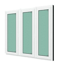 หน้าต่างบานฟิกซ์ 3 panel WINDSOR รุ่น SIGNATURE กระจกเขียวใส 6 มม.