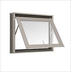 หน้าต่างบานกระทุ้ง Awning TOSTEM รุ่น WE-70 กระจกลายฝ้า 5 มม.