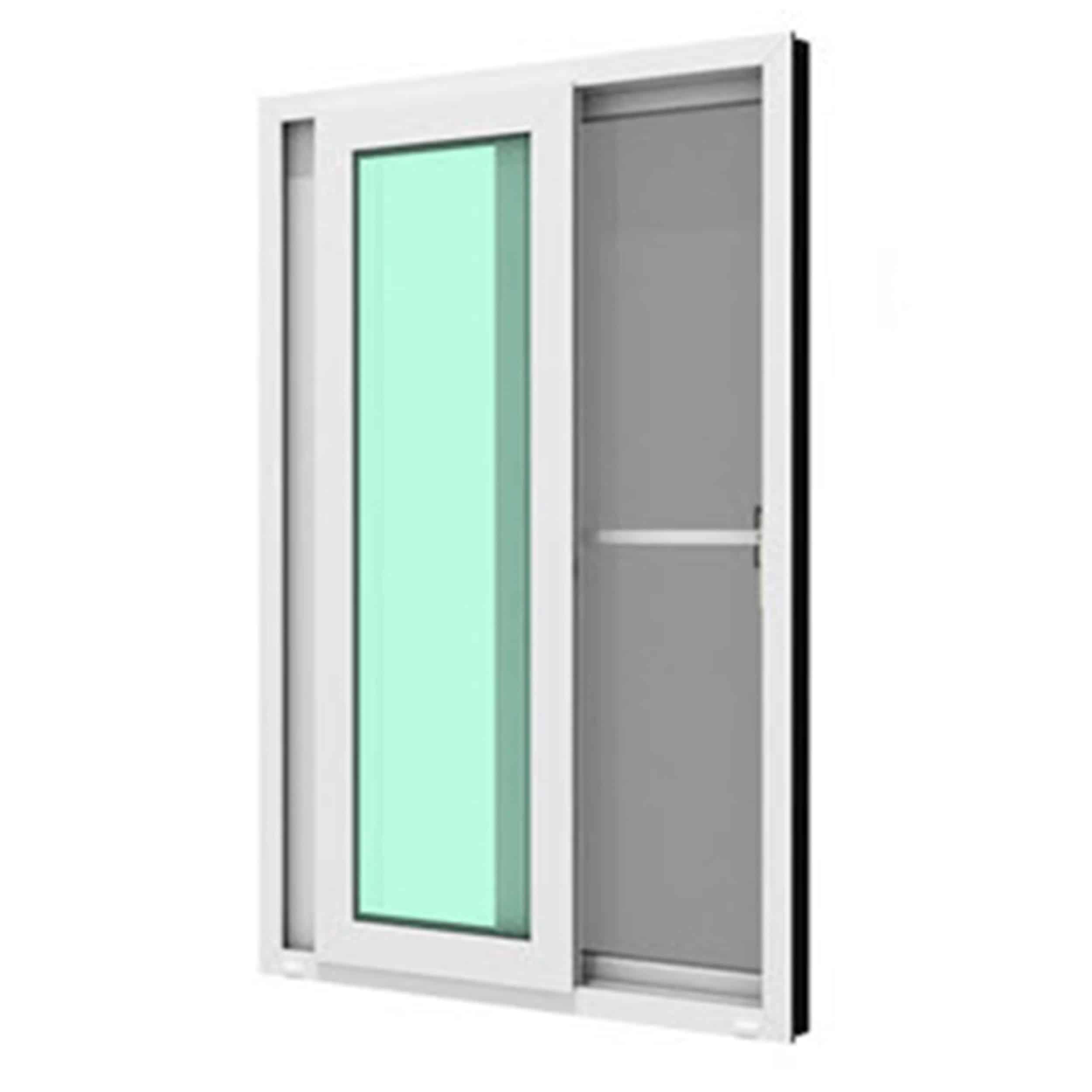 หน้าต่างบานเลื่อนคู๋ WINDSOR รุ่น MARK ll กระจกเขียวใส 5 มม.+มุ้งลวด