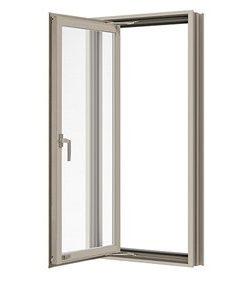 หน้าต่างบานเปิดเดี่ยว(ซ้าย) TOSTEM รุ่น WE-70 กระจกเขียวใส (ไม่มีมุ้งลวด)