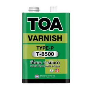TOA VARNISH T-8500สำหรับภายใน วาร์นิชดำ