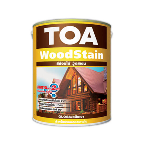TTOA WoodStain Gloss สีย้อมไม้ชนิดเงา สีสักทอง G07
