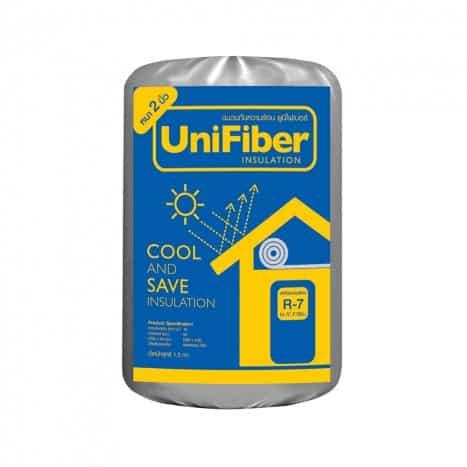 ฉนวนกันความร้อน UNIFIBER SCGหนา 2 นิ้ว 0.6X4.00 ม.