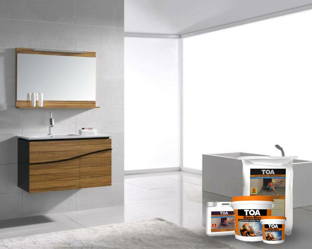 แก้ไขปัญหาห้องน้ำ รั่ว ซึม ง่ายๆด้วยผลิตภัณฑ์จาก TOA