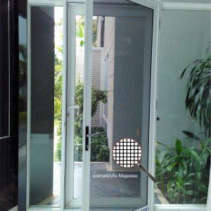 มุ้งลวดนิรภัย ประตูบานเปิดเดี่ยว กว้าง800มม. สูง2000มม.