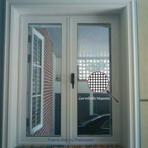 มุ้งลวดนิรภัย หน้าต่างเปิดคู่