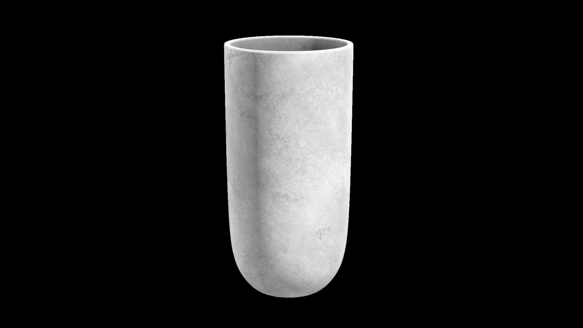 กระถางคอนกรีตเสริมเหล็กขัดมันทรงแคปซูล 50x120 cm.