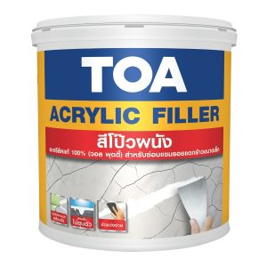 สีโป๊วผนัง TOA Acrylic filler (วอลล์พุตตี้)