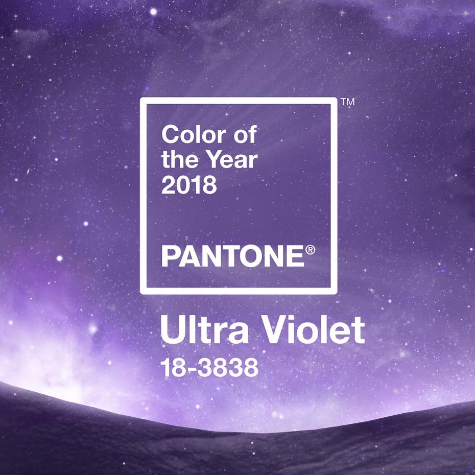 Ultra Violet ได้การยกย่องให้เป็นสีประจำปี 2018 โดยPantone