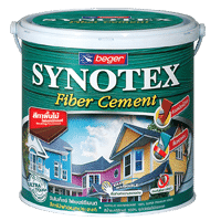 สีทาไม้ฝา เบเยอร์ Synotex Fiber Cement ทึบแสง