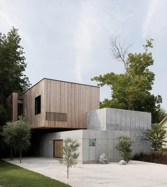 บ้านคอนกรีตผสมผสานไม้ The Concrete Box House มิติใหม่ที่ลงตัวมากขึ้น