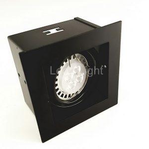 โคมไฟ DOWNLIGHT เดี่ยวแบบฝังฝ้า G-DL01 สีดำ