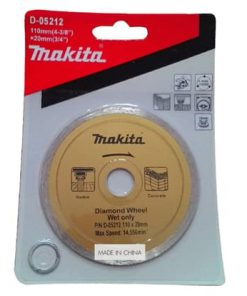 ใบตัดเพชร D-05212 น้ำ 4 นิ้ว MAKITA