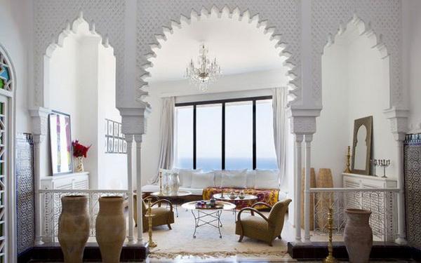 งานออกแบบของ Moroccan ด้วยการตกแต่งเพิ่มบรรยากาศ หรูหรา สวยงาม