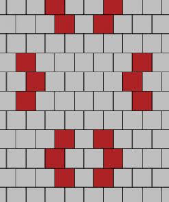 เอสซีจี บล็อกปูพื้น ศิลาเหลี่ยม - ลาย LL 37