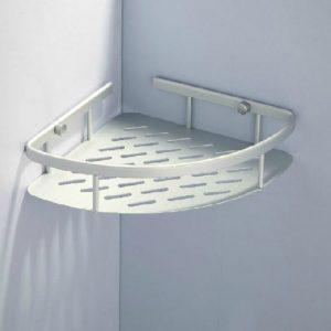 YSB CASSA ชั้นวางของอเนกประสงค์ ห้องน้ำ1ชั้น เข้ามุมติดผนังอลูมิเนียม รุ่น 40-ALM-9001-110