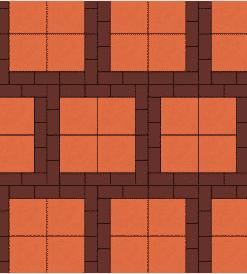 SCG บล็อกปูพื้น ศิลาเหลี่ยม - ลาย LL 5