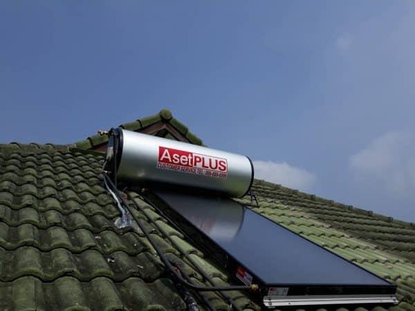 เครื่องทำน้ำร้อนพลังงานแสงอาทิตย์ ชนิดแผ่นเรียบ200 ลิตร