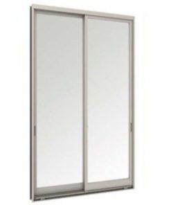 Tostem WE70 ประตูบานเลื่อนคู่ ขนาด2400x2000 มม.ไม่มีกุญแจ