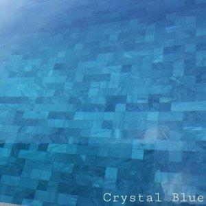 Crystal Blue หินคริสตัลบลู หน้าแซนด์ 10x10x1 ซม.