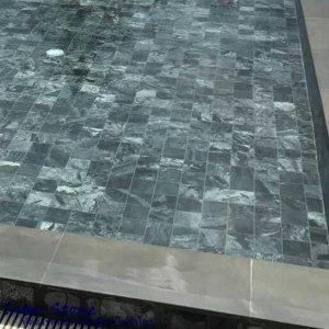 หินซิลเวอร์เกรย์ ขัดเรียบ Silver Grey Polished 10x10x1 ซม.