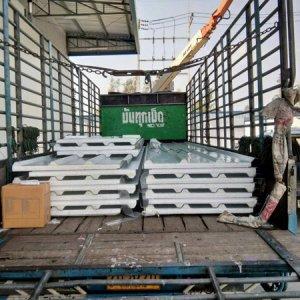 หลังคาA+Roof 0.38 mm/PS1.00 lb/ft3 Thk.50mm บนสีขาว ล่างสีขาว 1x4.5 เมตร