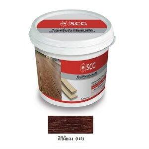 สีย้อมไม้พื้น สีไม้แดง 3.6 กก. SCG