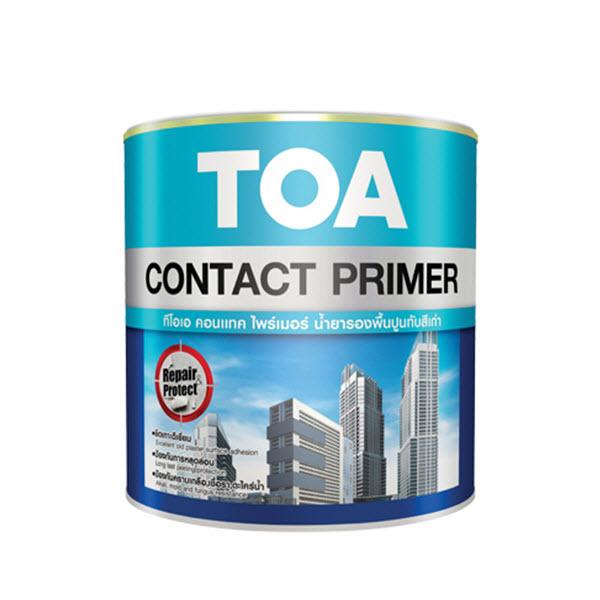 TOA Contact Primer E-1100 น้ำยารองพื้นปูนทับสีเก่า
