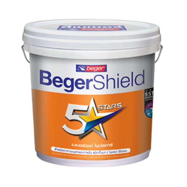 BegerShield 5 Stars Semi-gloss สีน้ำอะคริลิก