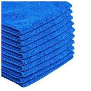 6 ผืน/ชุด สีน้ำเงิน ผ้าไมโครไฟเบอร์ Size 40×40cm 300GSM