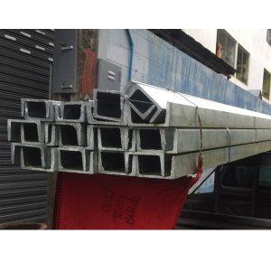 เหล็กรางน้ำ Steel Channel 6 เมตร ชุปกัลวาไนซ์