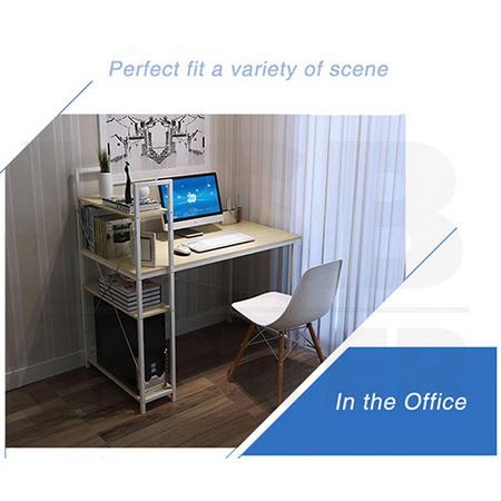 โต๊ะคอมพิวเตอร์ พร้อมชั้นวางหนังสือ ขนาด100x48cm.