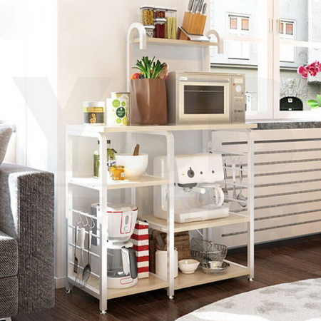 โต๊ะบาร์ พร้อมชั้นวางของ ประหยัดพื้นที่ ห้องครัว รุ่น FB0025-W6-YW