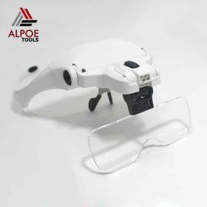 แว่นขยายแบบแว่นตา มีไฟ รุ่น No.9892B2
