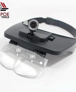 แว่นขยายแบบหมวกสวม มีไฟ รุ่น MG81001-D
