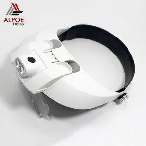 แว่นขยายแบบหมวกสวม มีไฟ รุ่น MG81001-G