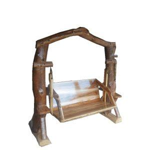 เก้าอี้โยกชิงช้าไม้สักทอง