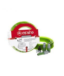 สายยางแฟนซีพีวีซี เอสซีจี 5/8x15 สีเขียว