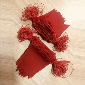 ธงราว สีแดง แบบผ้า ยาว 200 เมตร