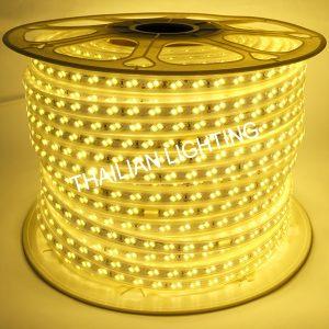 ไฟสายยางแบนชิพคู่ SMD LED5025 แสงวอร์ม