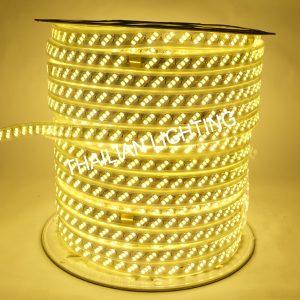 ไฟสายยางแบน3ชิพ SMD LED2835 แสงวอร์ม