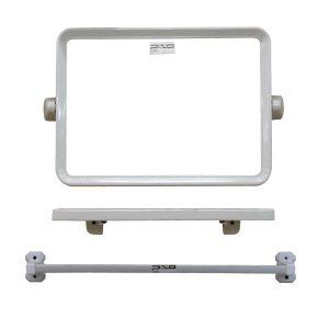 กระจกชุด3ชิ้น แบบเหลี่ยม สีขาว MS07