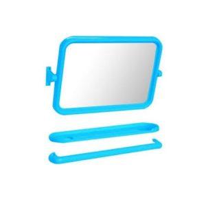 กระจกชุด3ชิ้นแบบเหลี่ยมสีฟ้าEMA-01